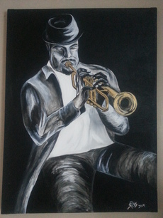 Stephanie Pais's Gold trumpeter