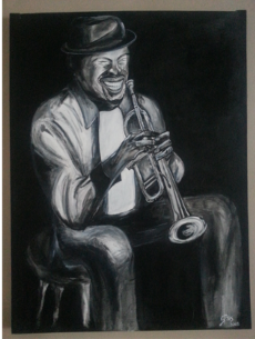 Stephanie Pais's Happy Trumpeter Painting