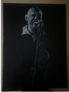 Stephanie Pais's Ghost Sax man